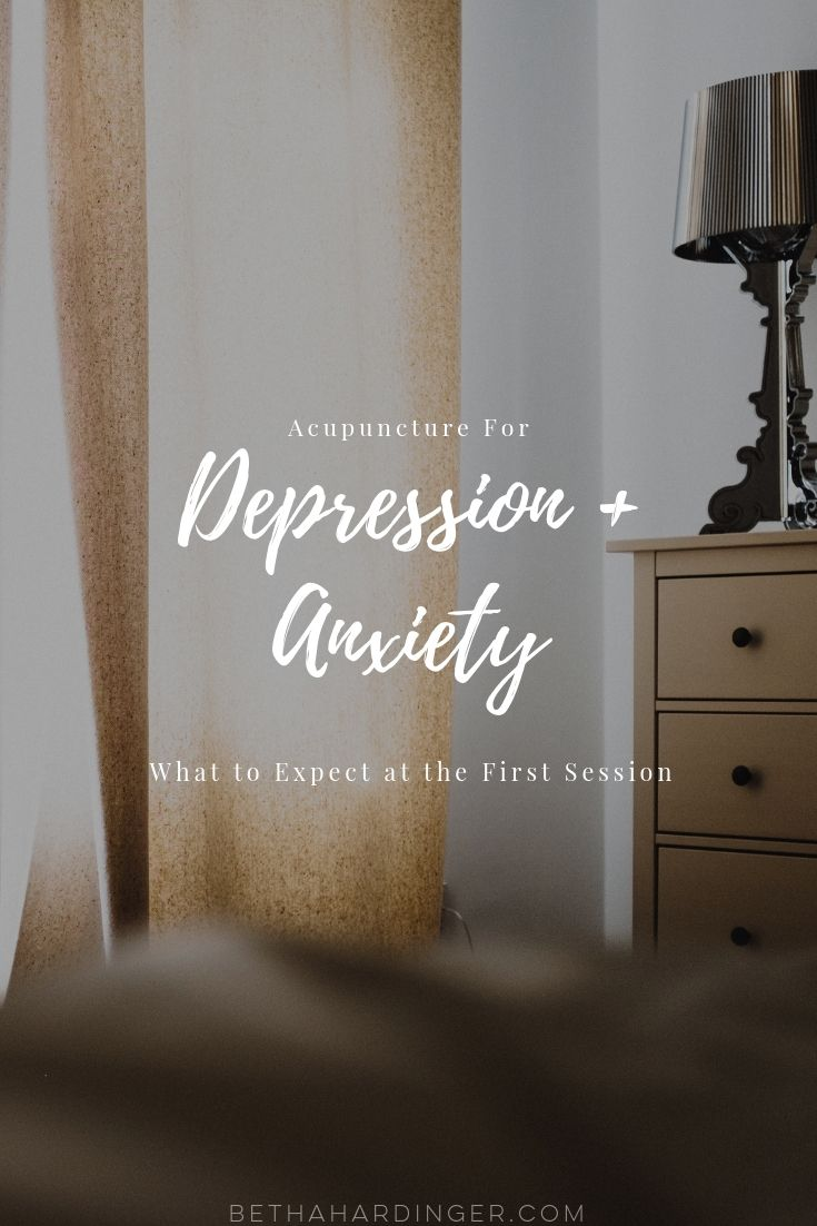 Acupuncture for Depression and Anxiety | What to Expect at the First Session